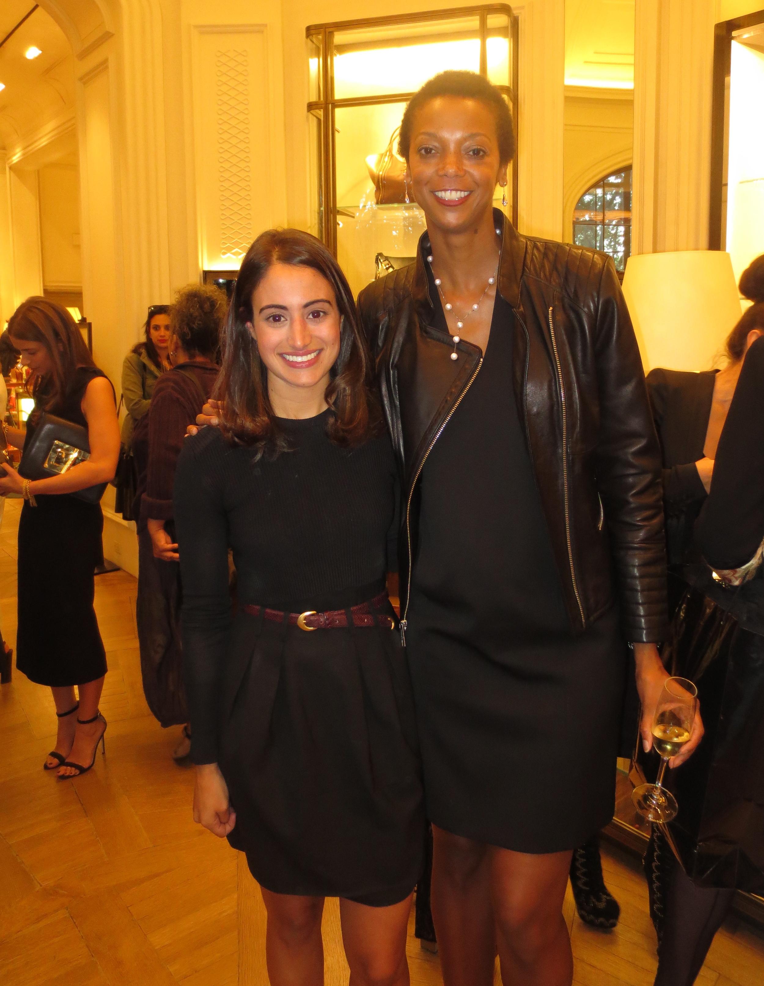 With Michelle Fawbush of Harper's Bazaar.