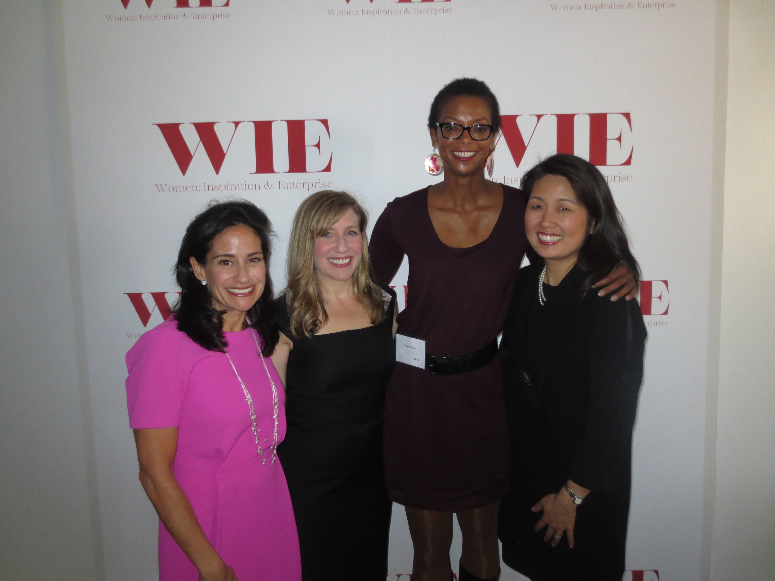 With cause marketer Susan McPherson, Jennifer Dulski, President & COO of Change.org and Audrey Choi, Managing Director and Head of Morgan Stanley Global Sustainable Finance after their talk on For Profit For Good - Impact Investing For Positive Change.