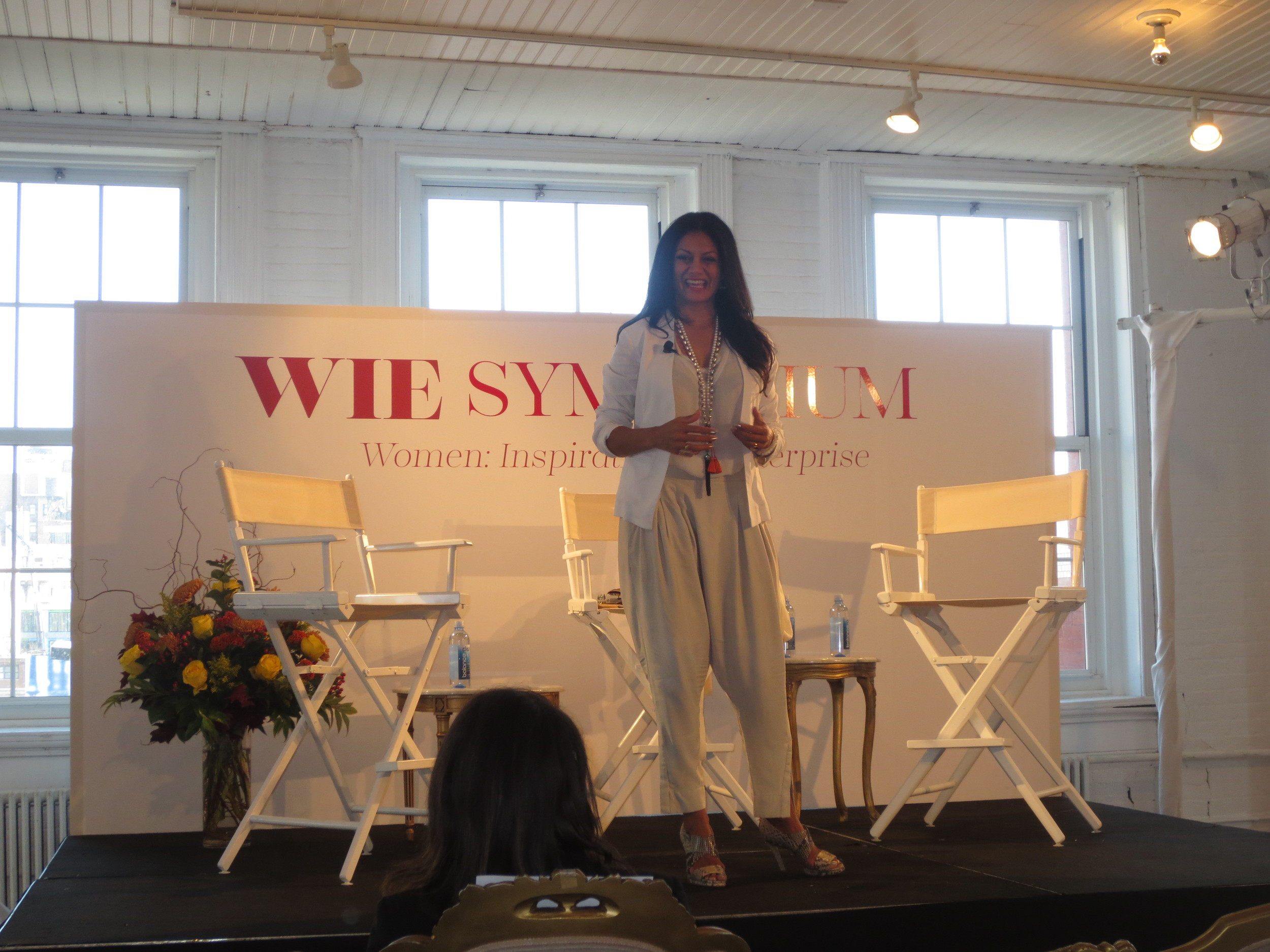 Donna D'Cruz of Rasa Living starts the day off with a meditation session.
