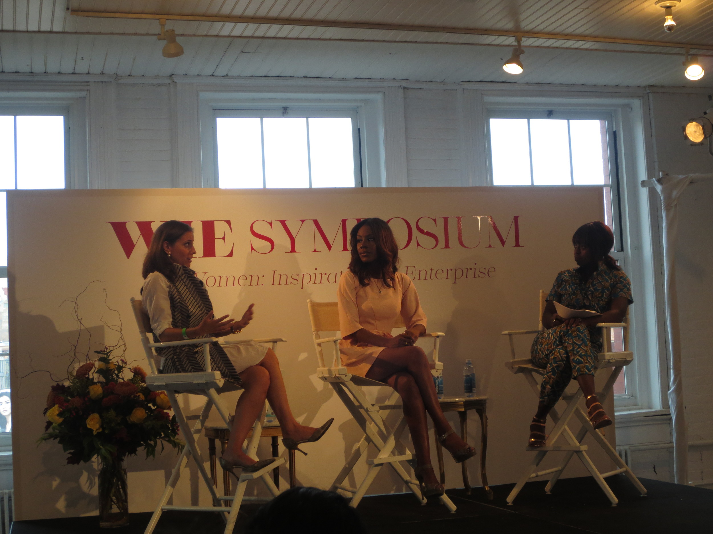 Elana Nathan, CEO of Peter Som and Amma Asante, Director of the film Belle speak with Dee Poku, WIE co-founder, on Balancing Business and Creative.