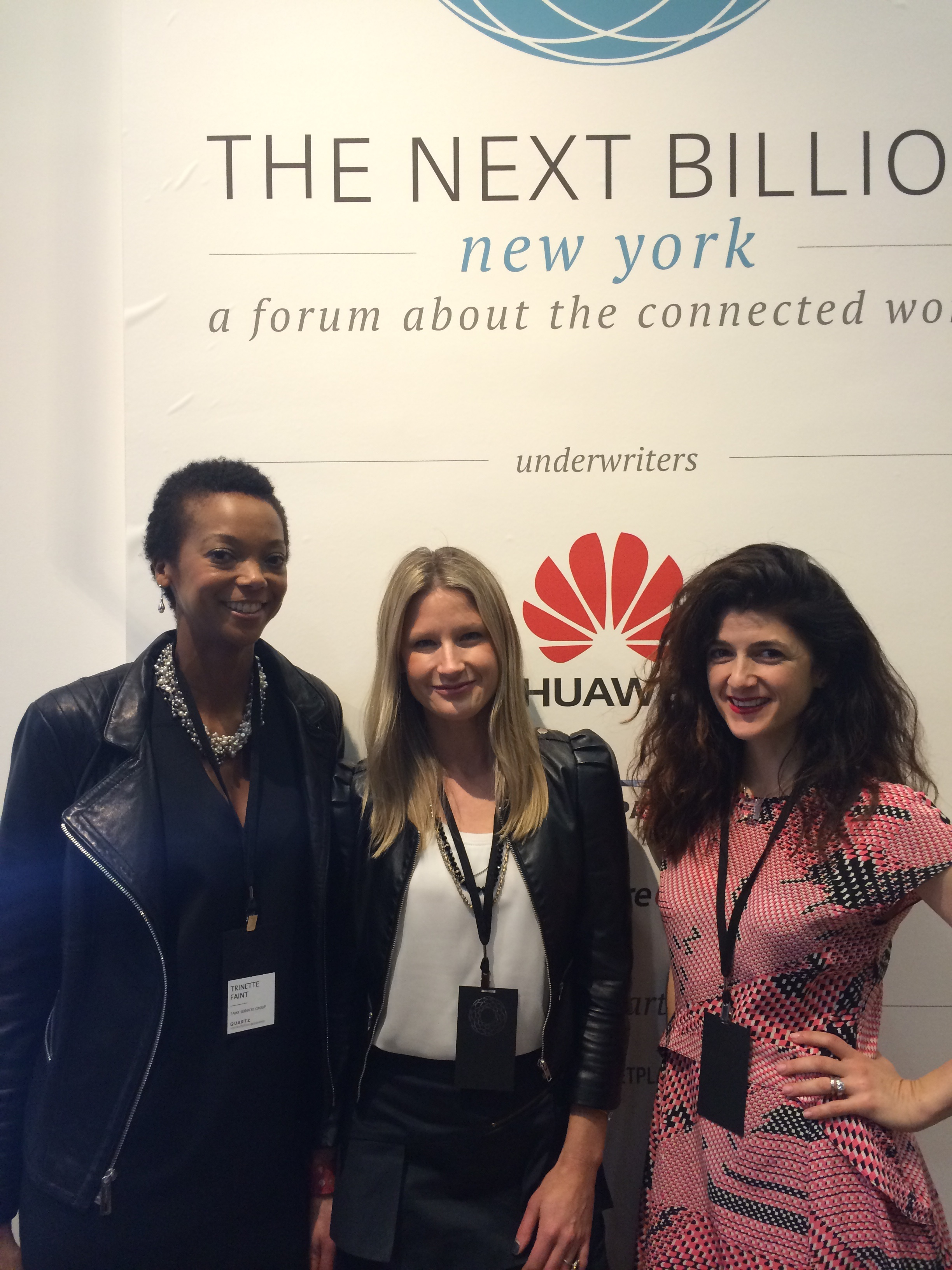 With Maxine Friedman of Bionic Solution and Susan Naci of 32 Laight Street Partners.