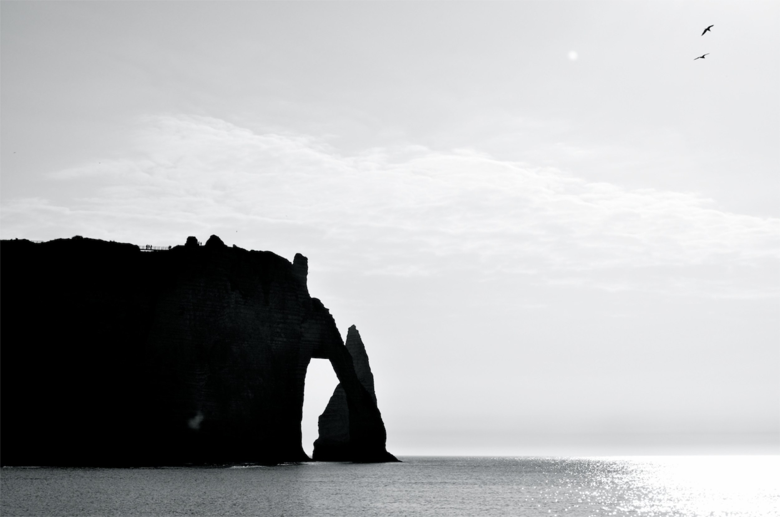 Elephant Cliff. Etretat. France.