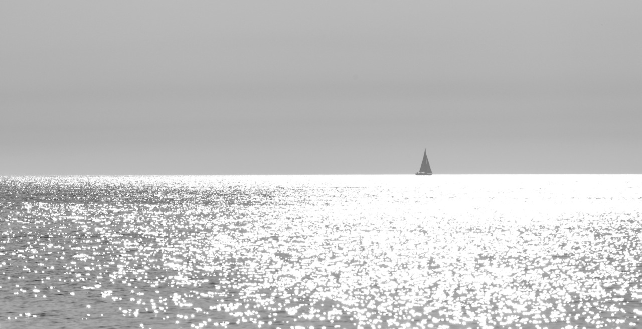 Alone is not lonely. Etretat. France.