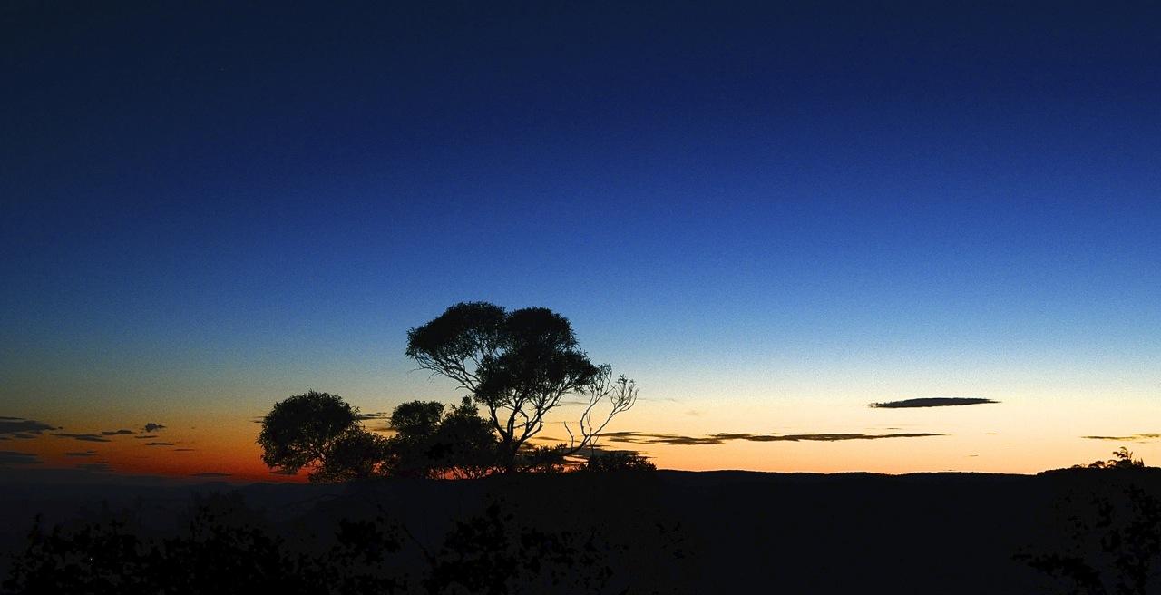 Sunset. Blue Mountains. Australia.