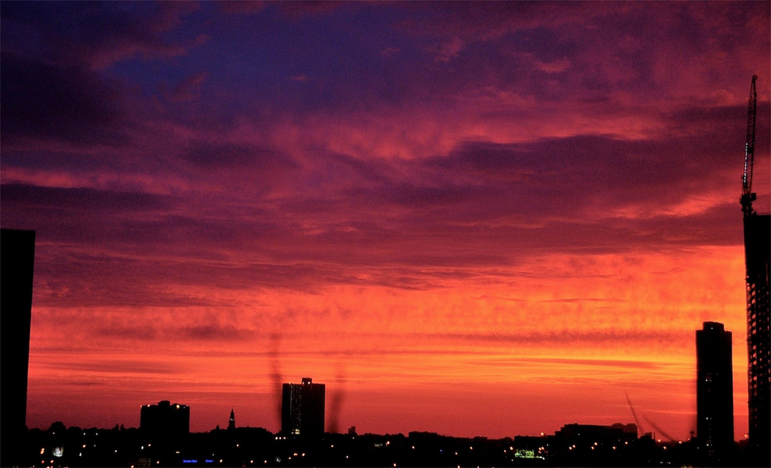 Sunset. Crimson. Unedited. Melbourne. Australia.