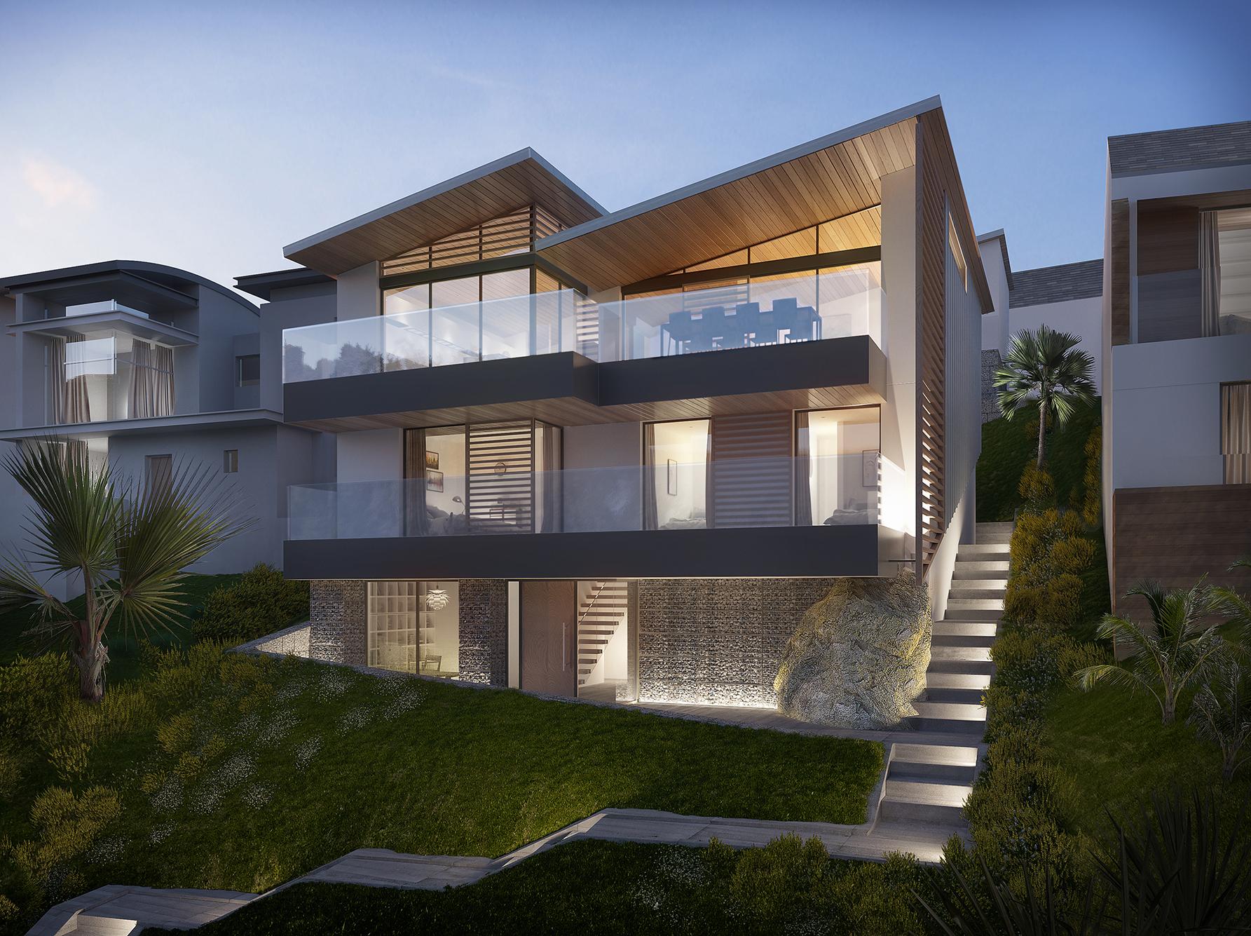SEASPRAY - A striking development of two new contemporary waterside dwellings.