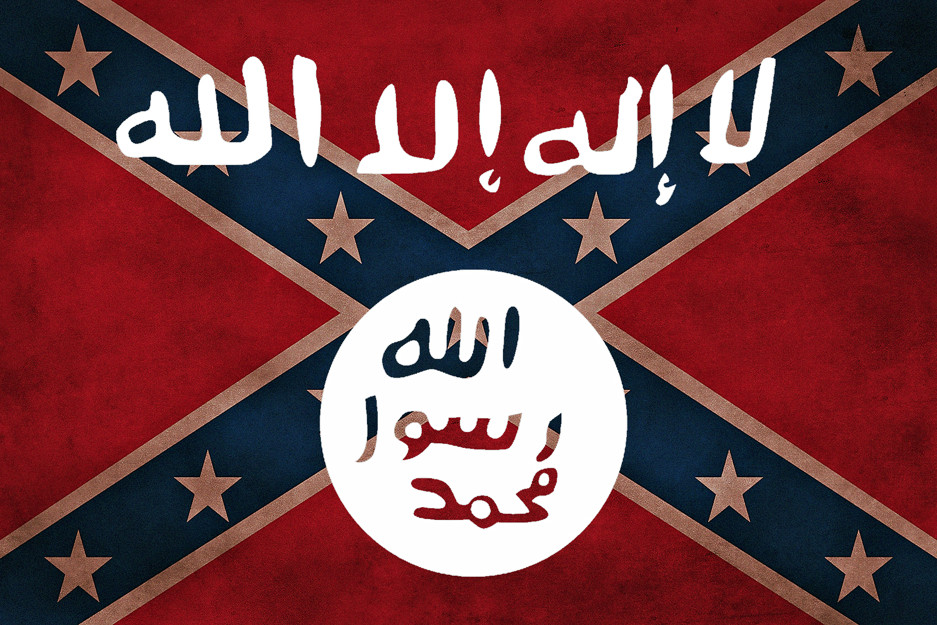 ISIS Confederate flag.   Hate groups are sadly interchangeable.