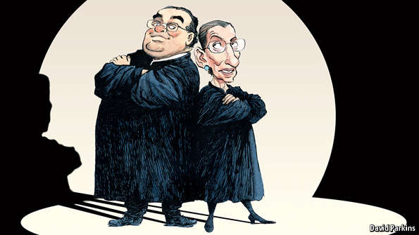 The Economist on 'Scalia/Ginsburg'