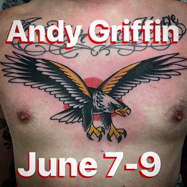 A guy I've never met but I'm sure is a nice guy and I'm positive he makes great tattoos is coming to work with us next week and if you aren't getting tattooed by him I question your life choices. @andygriffintattoo @andygriffintattoo @andygriffintattoo message him for an appointment if you wanna become a better person.