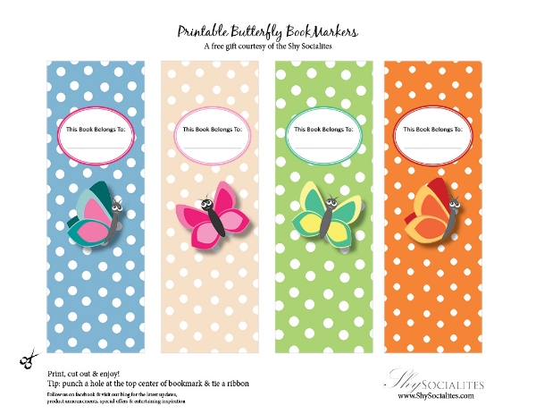 Butterfly bookmarkers