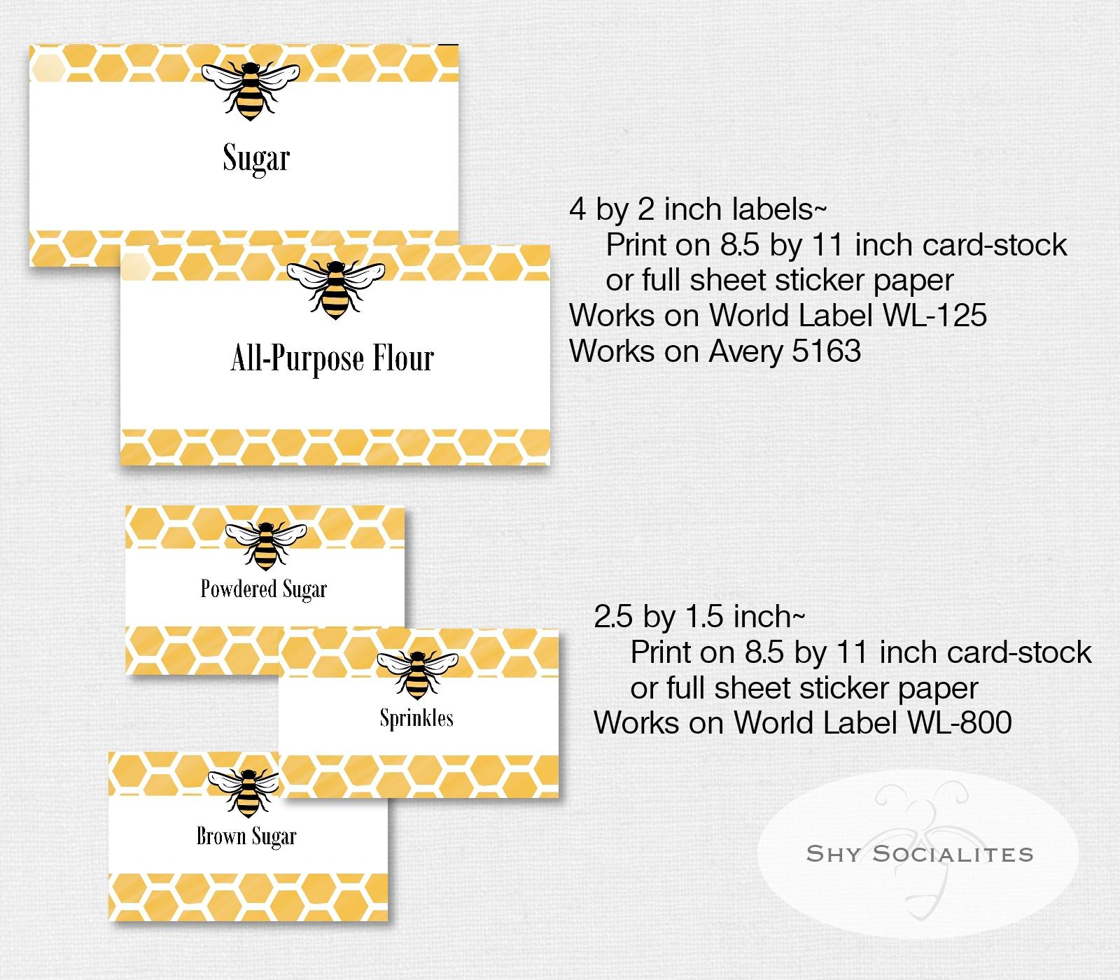 Bee Label Set