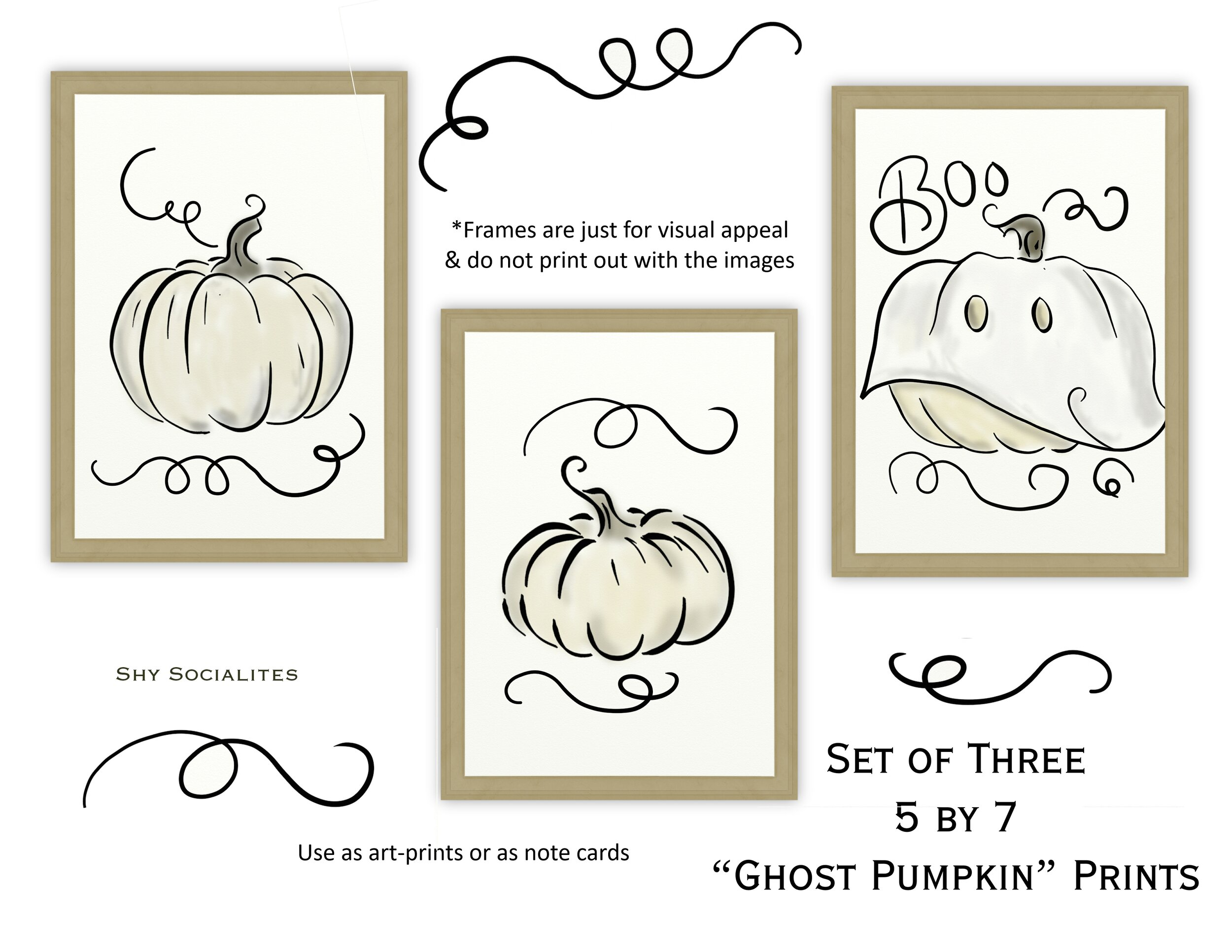 Free Printable Ghost Pumpkins