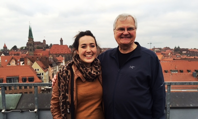 Bruce Olson & I on the roof top looking over Nürnberg