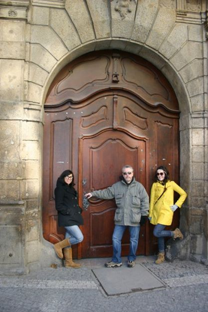 Theresa, Bernard and I in Prague
