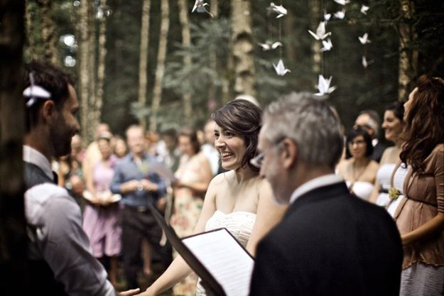 Bernard marrying Uli and I in the Ort forest of Germany.