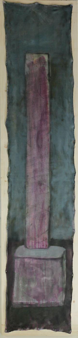 Chairpillar, 2011, 255x55cm, oil on canvas
