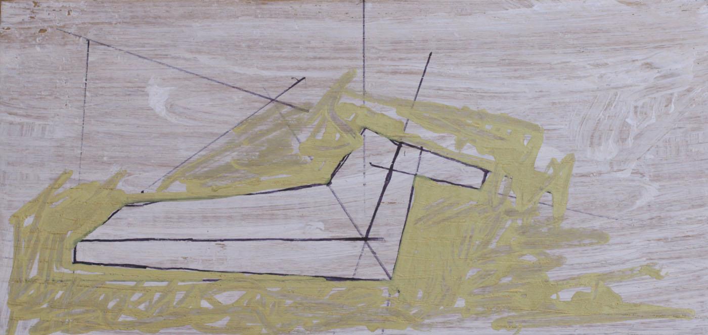 Chaise Longue, 2012, 13x27cm, oil on canvas