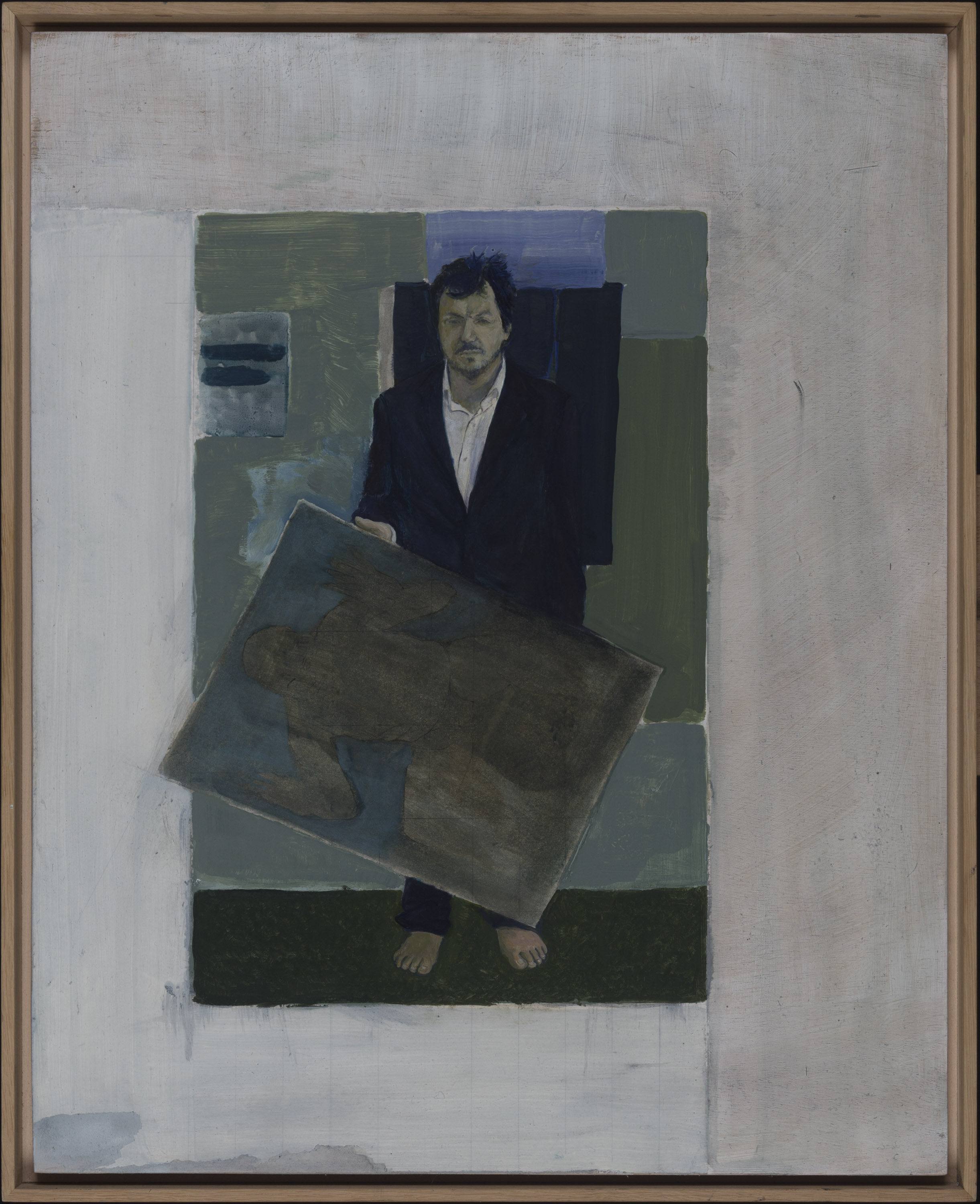 Standing with a Painting