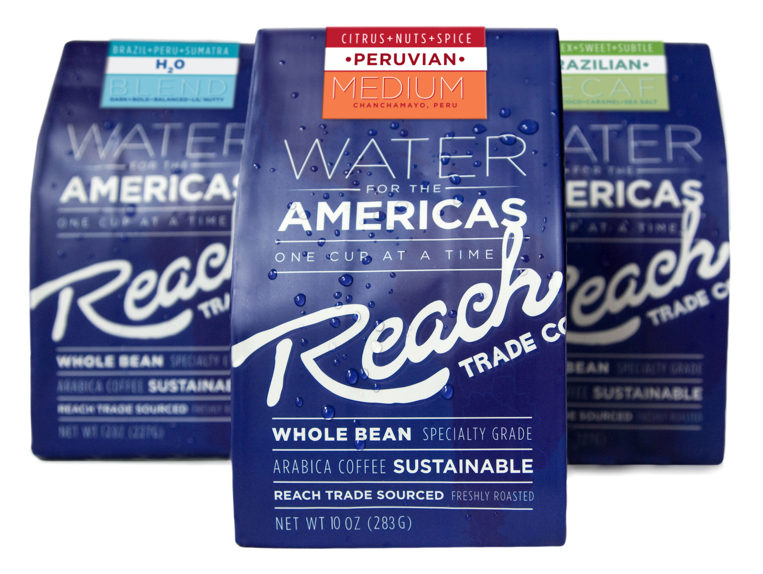 Water for the Americas coffee packaging