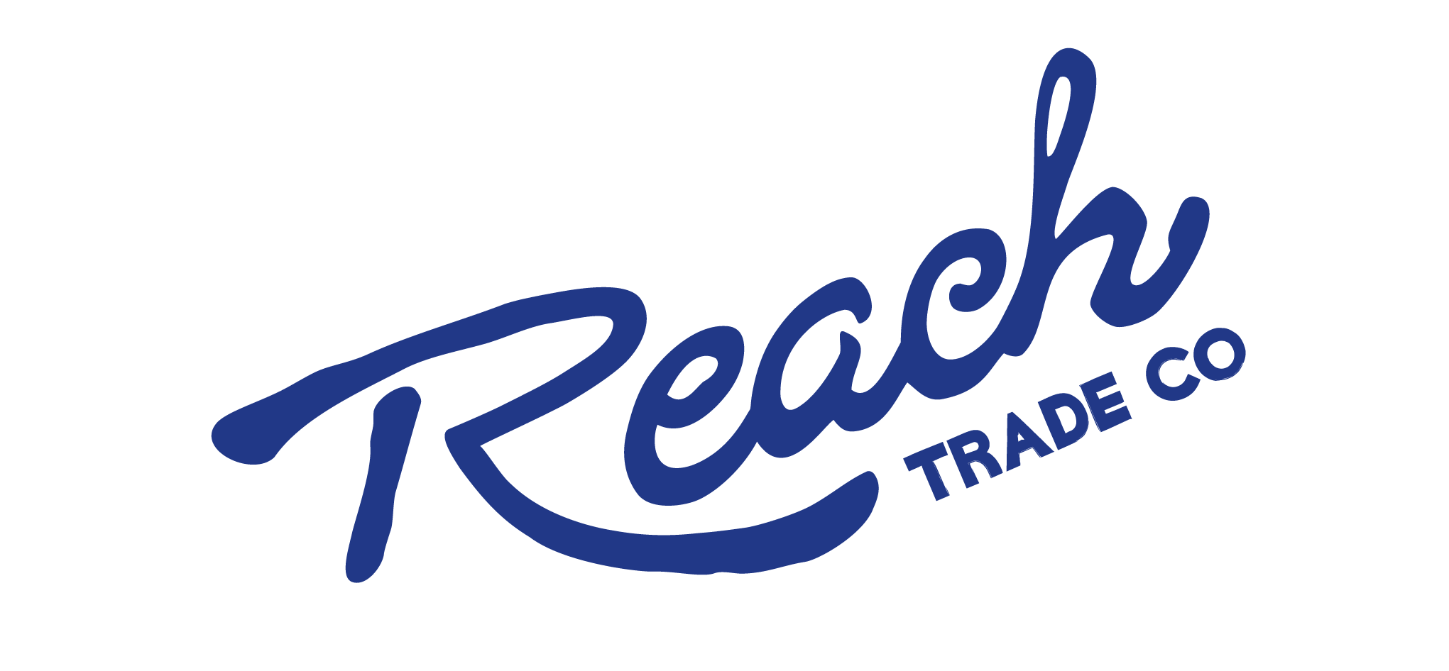 Reach Trade Co. logo design  |  Inspired by drawing with water
