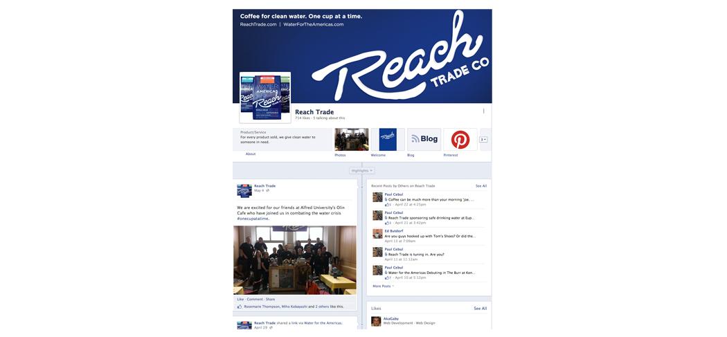 Reach Trade Co. Facebook page design & marketing