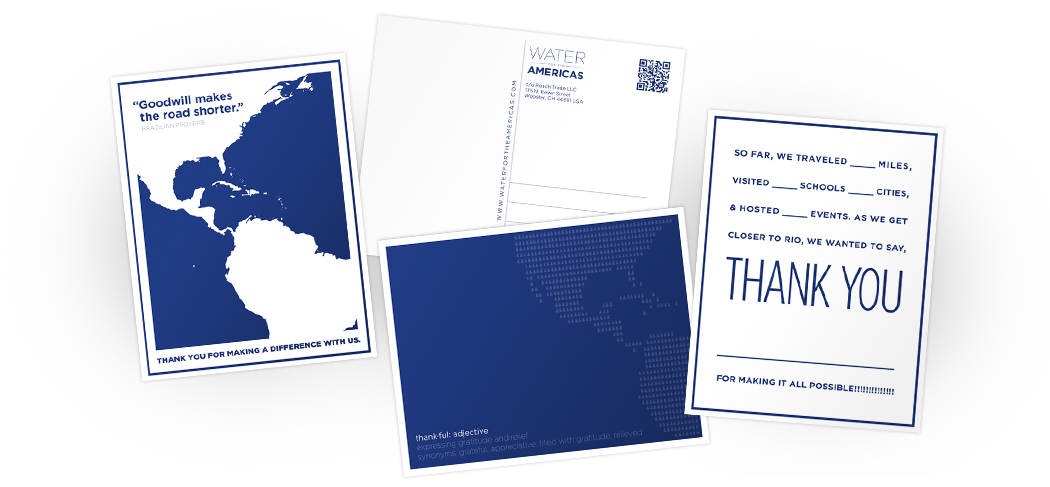 Thank you notes to send to supporters