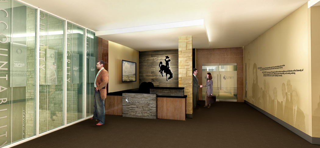 Concept rendering of the UW Foundation Entry