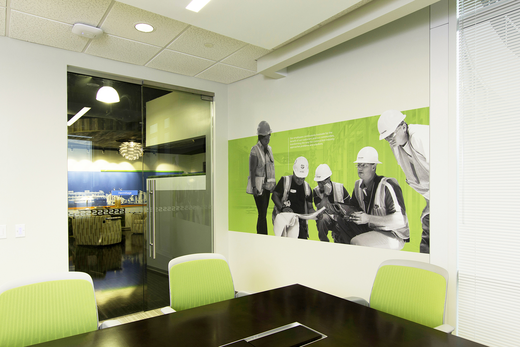 Graphics connect spaces and tell stories of sustainable practices