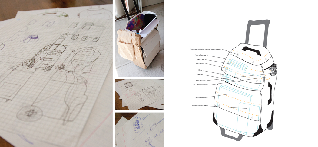 Concept sketches and prototypes helped problem solve for the best solution