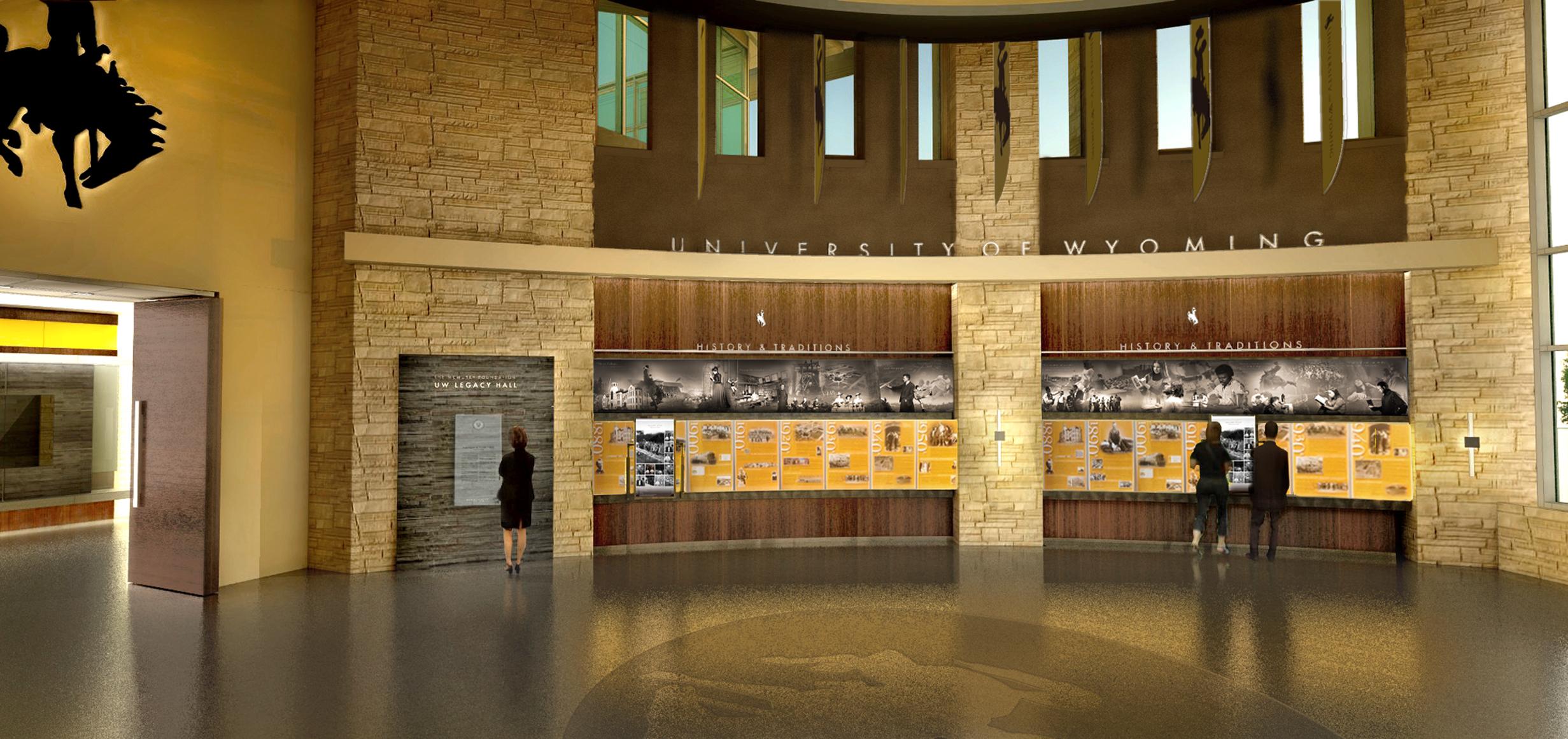 Concept design for the Legacy Hall timeline
