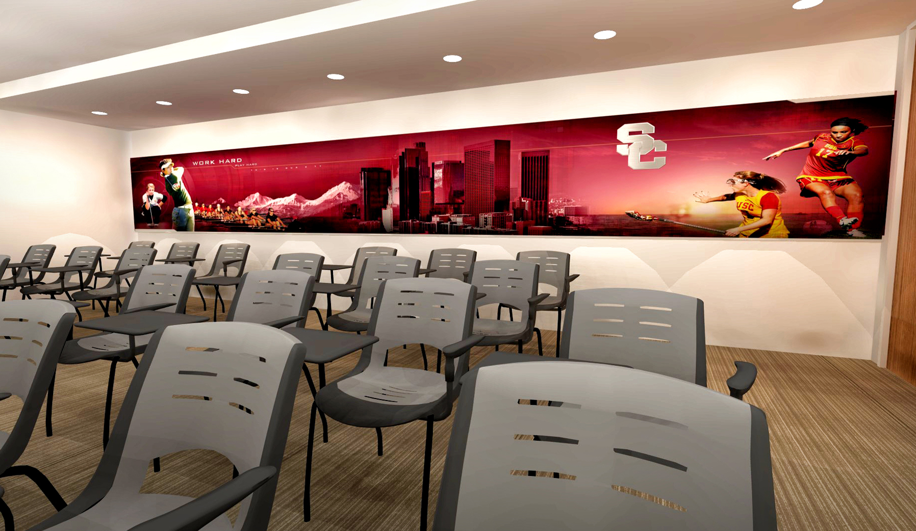 Heritage Hall concept rendering: Murals for academic study lounges