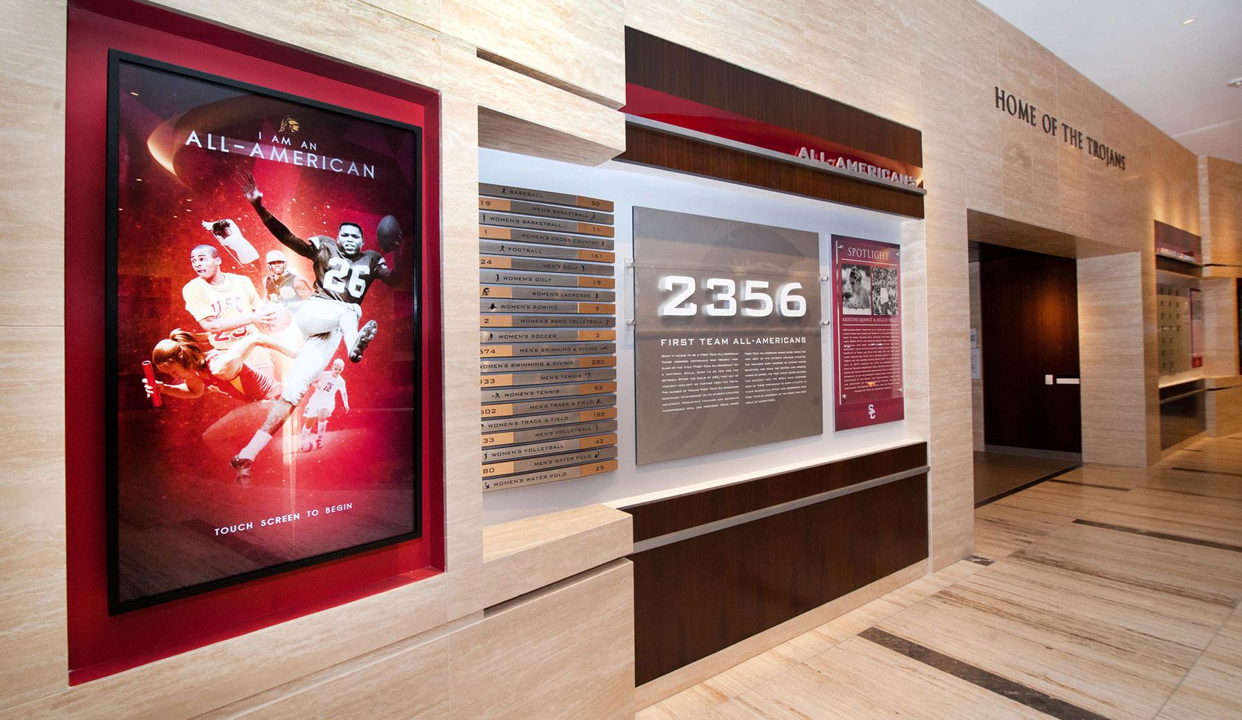 Heritage Hall Installation image: All American display