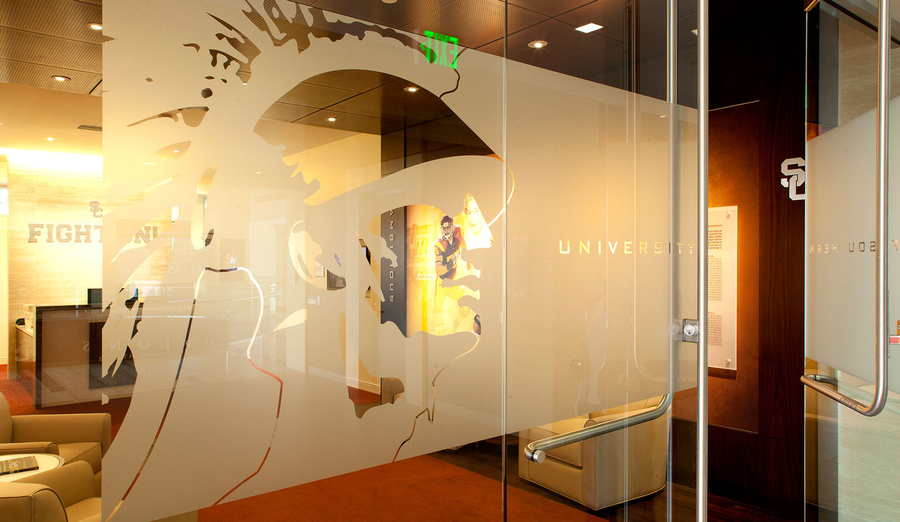 Heritage Hall Installation image: Glass branding for waiting rooms