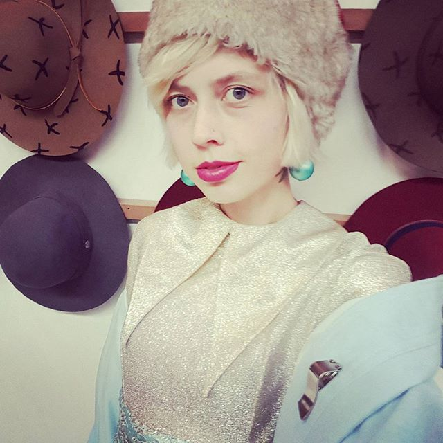 I'll have a blue Christmas....stay cozy in a faux fur topper. Brrrrr #fauxfur #handmade