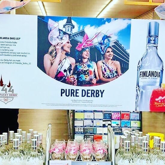 Look for our hatinators in @totalwine stores everywhere! We had a great time collaborating with @finlandia_vodka_us! #brownforman #derbyhat