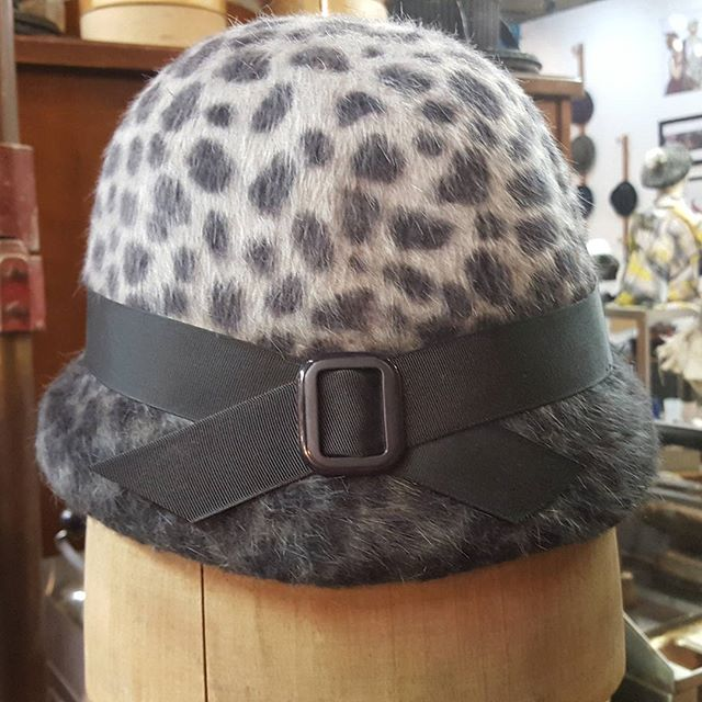 Another custom #hat, a silver #leopardprint Belle, on its way to its new owner!