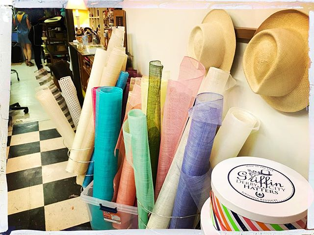 Open 10AM til sundown everyday until #kentuckyderby. We are fully stocked with Fine Straw Hats, Fascinators, and Hatinators of every color! ❤️🧡💛💚💙💜 If we don't have it we'll make it! 🐎👒💕
