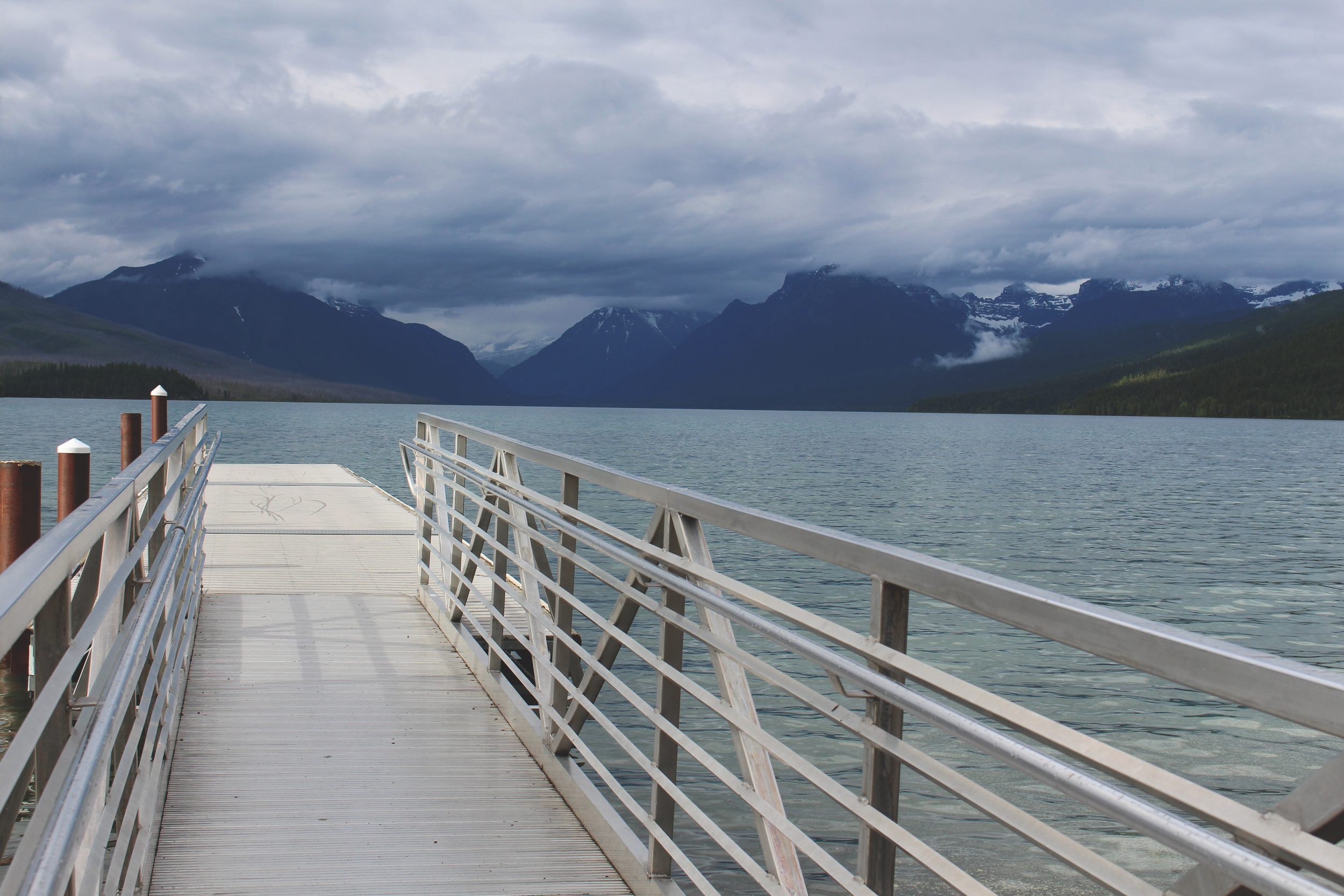 Dock in Apgar Village - Glacier National Park, Montana