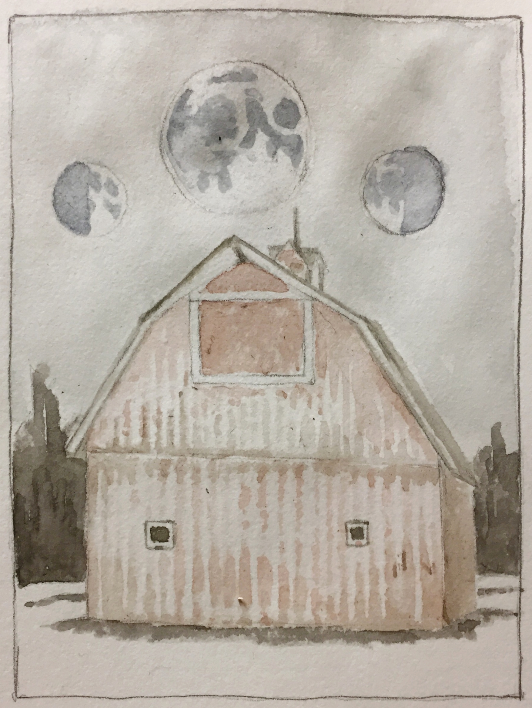 2017 Midwest Barn Series Sketch by artist Laura Jewell