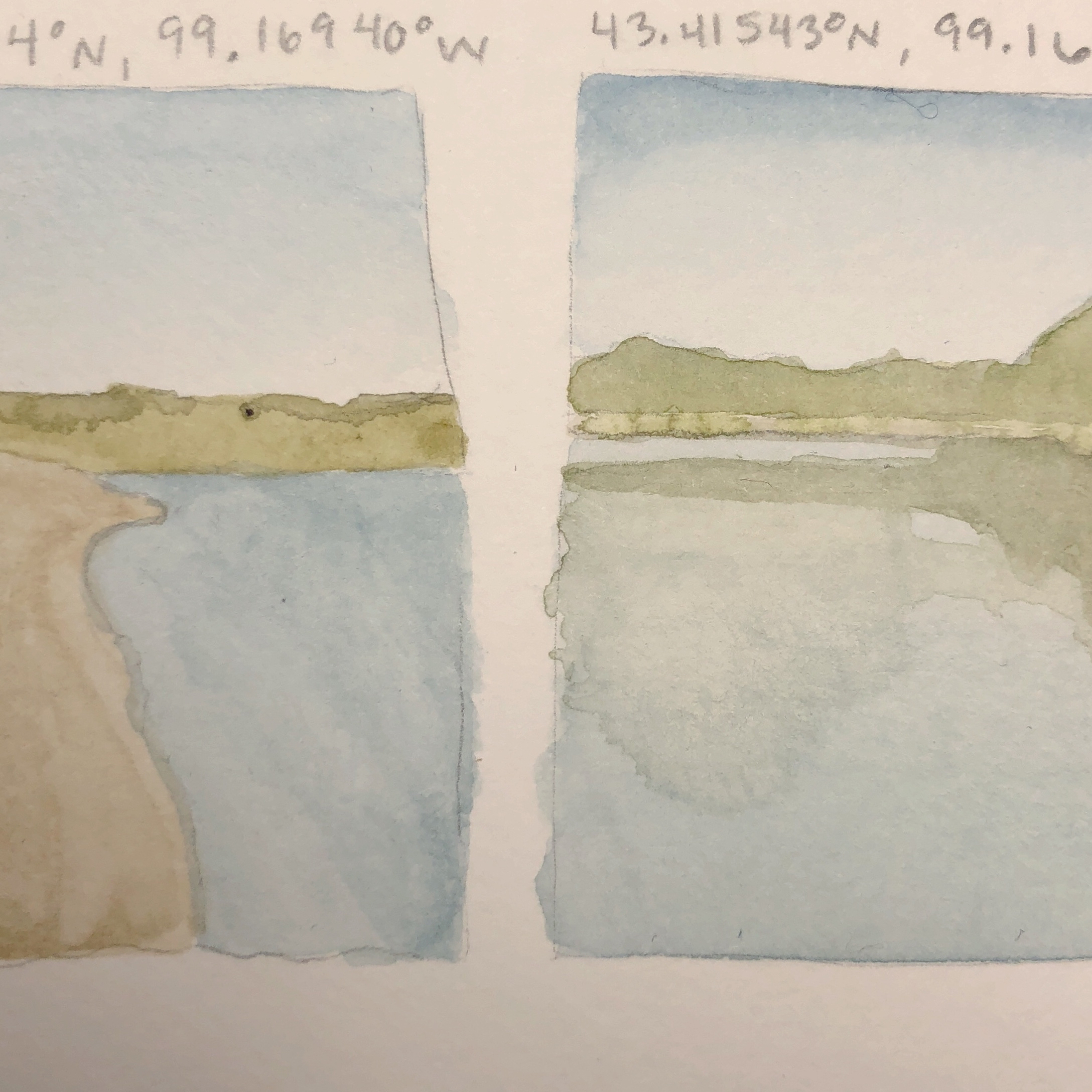 Sketches from Buryanek Recreation Area