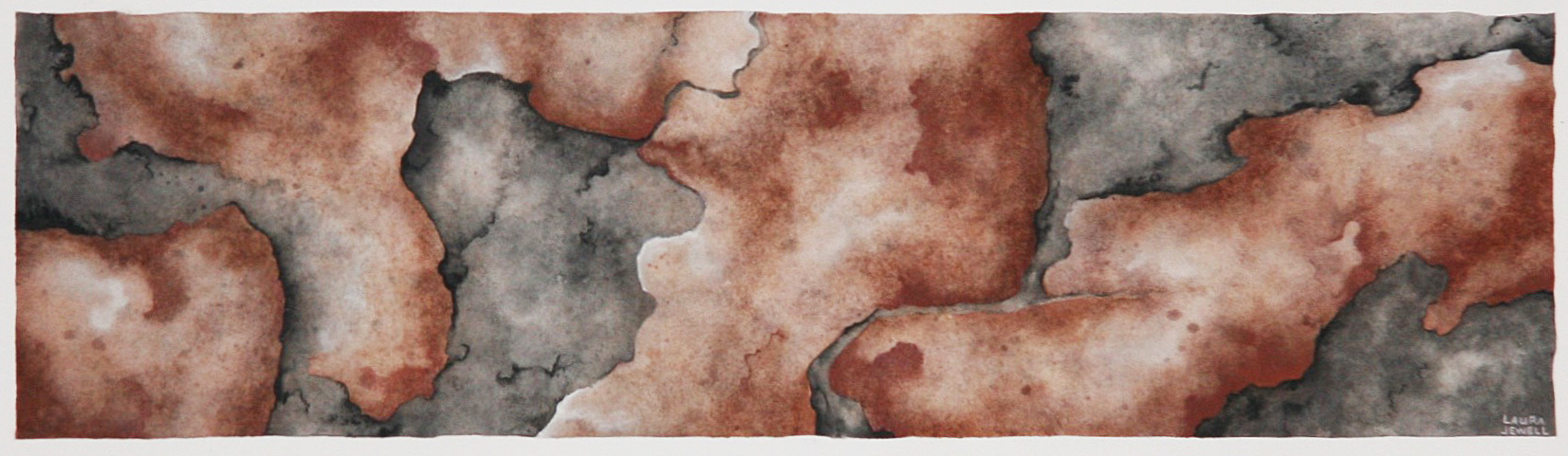 "Scrolling Stone. Watercolor. $100    Artwork Dimensions: 5.75""x20.75"""