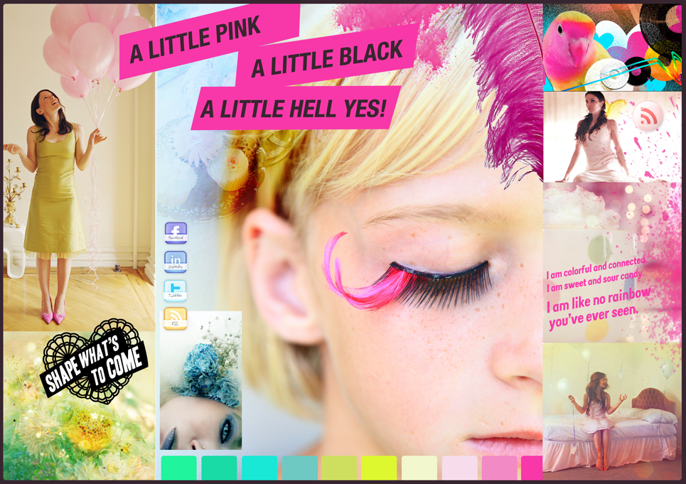 Moodboard 1 - visual exploration of the notion of modern femininity.Test material for focus groups in Paris.