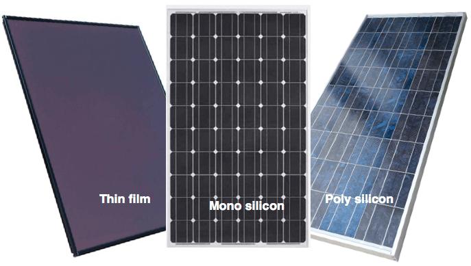 PV panel types