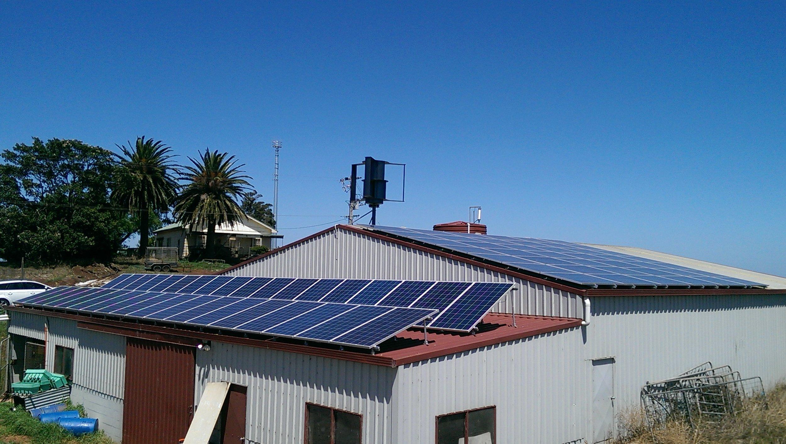 off-grid solar dairy farm