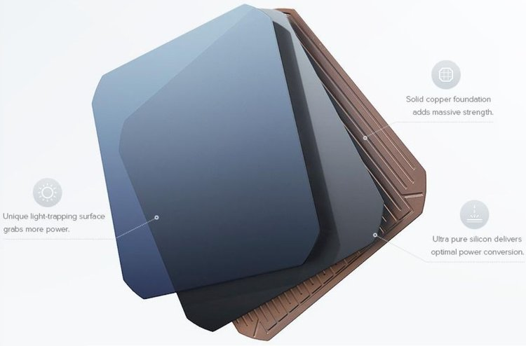 SunPower IBC N-type  cells with solid copper backing achieve ultra-high efficiencies over 22% - Image credit Sunpower Corp
