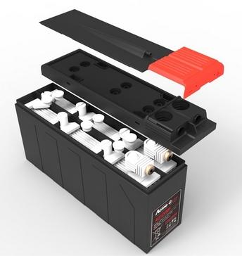 Narada gas recombination valve system on a VRLA battery - Image Credit Narada