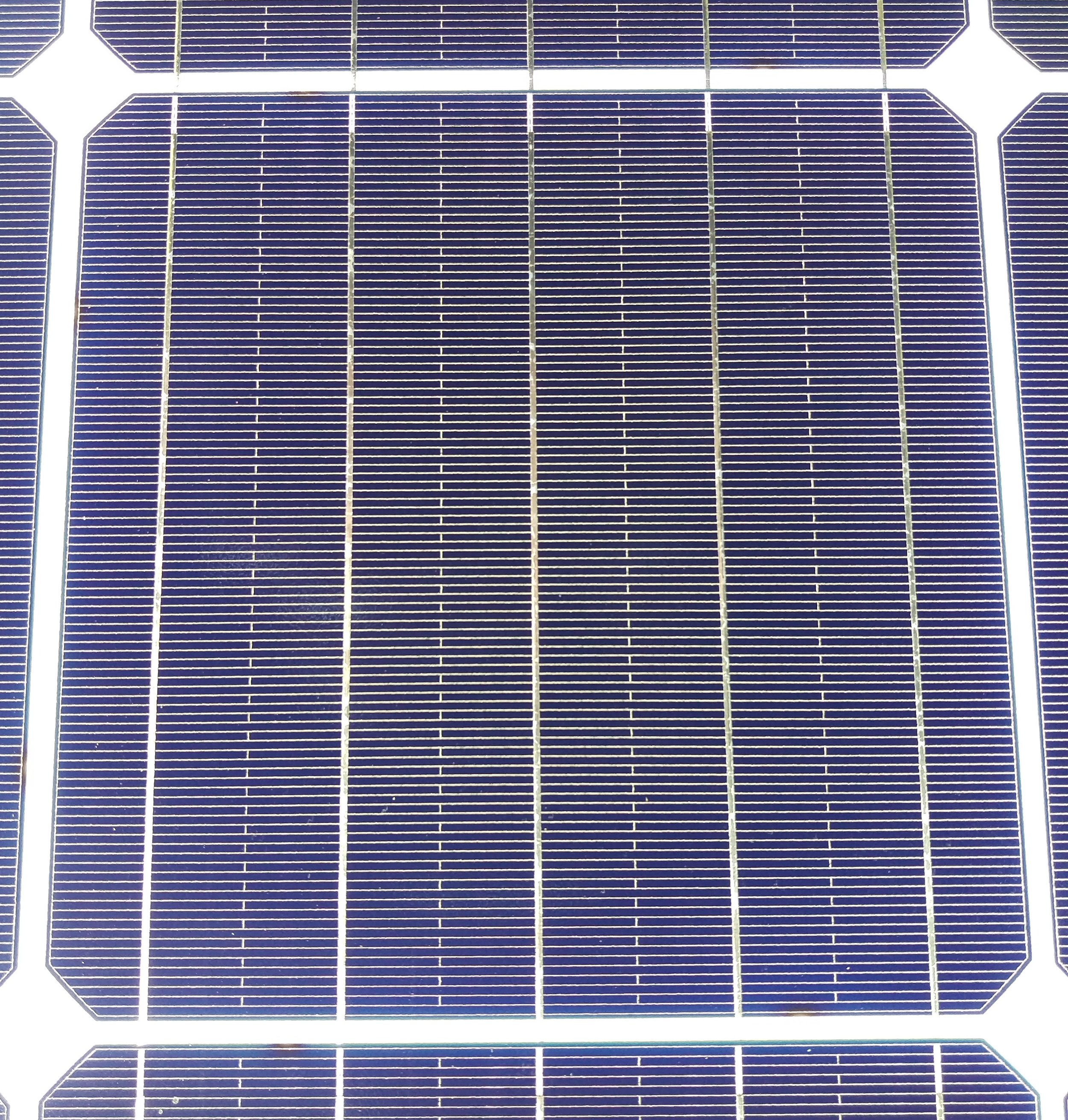 A Monocrystalline solar cell  (click to enlarge)
