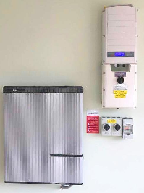 Hybrid system using a SolarEdge inverter and LG chem battery - Installed by  Skyline Solar