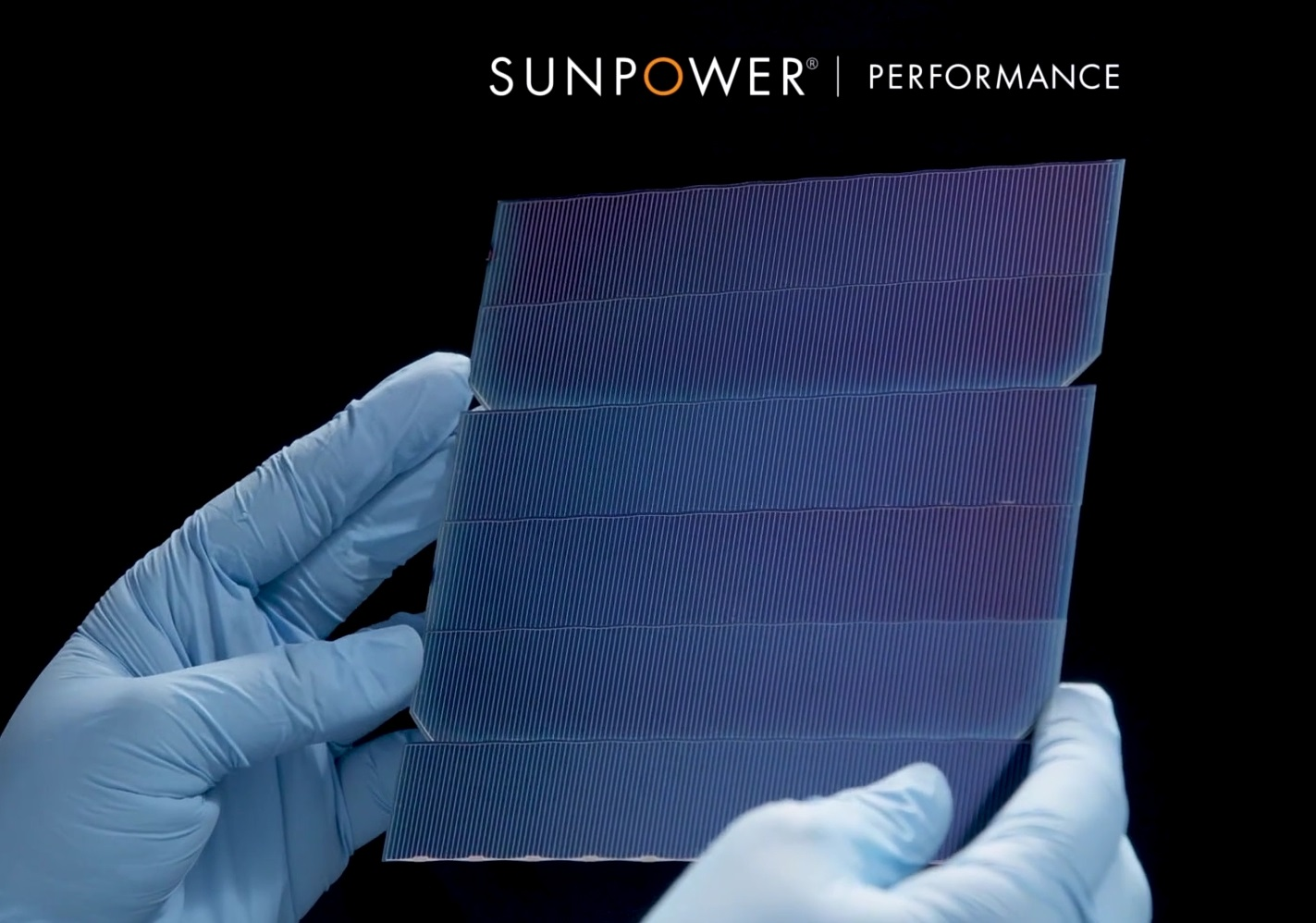 SunPower P series panels use P-type shingled cells - Image credit SunPower Corp