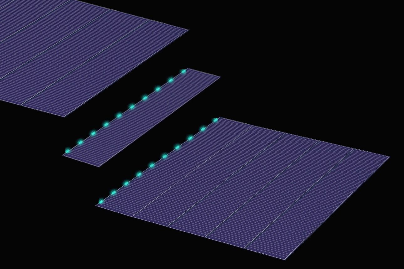SunPower P series Shingled cell construction - Image credit SunPower Corp